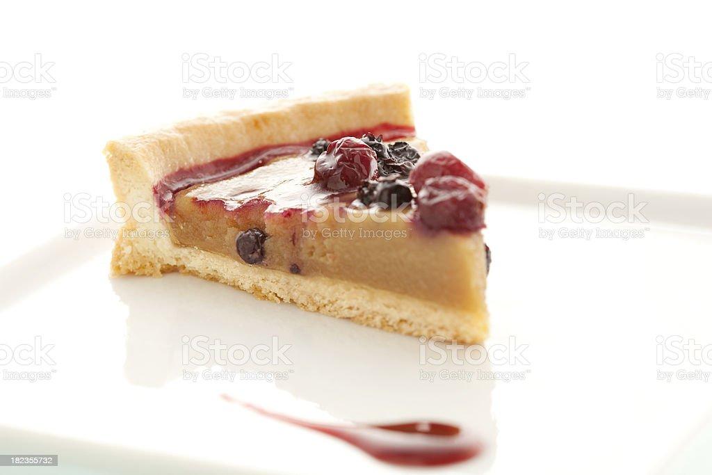 Dessert, Slice of Sugar Pie stock photo