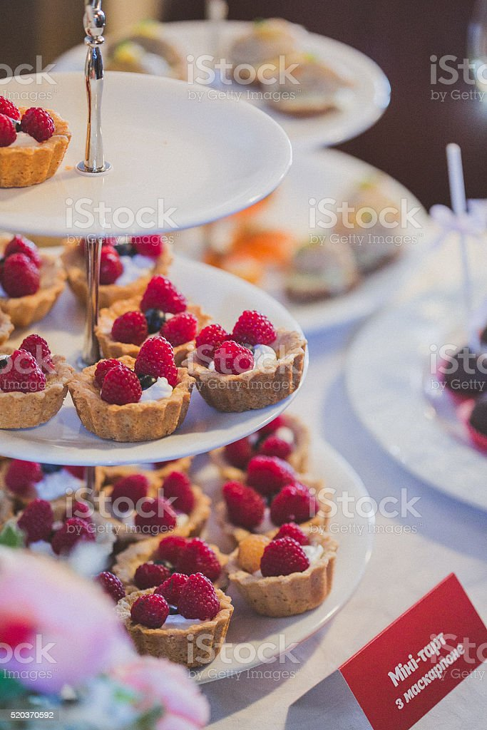 Dessert table. Candy bar stock photo