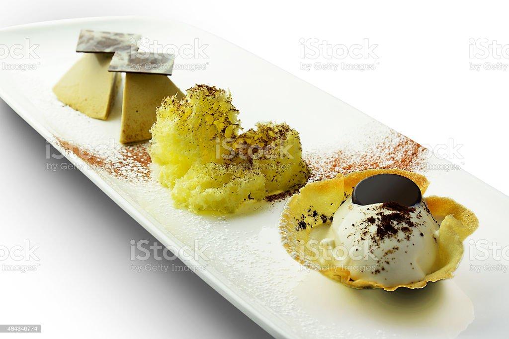 Dessert Tiramisu?€ Ice Cream Parfait and mousse chocolate stock photo