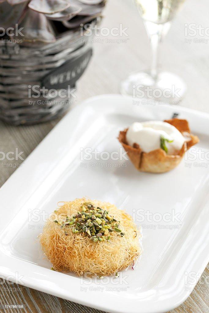 Dessert with İce Cream royalty-free stock photo