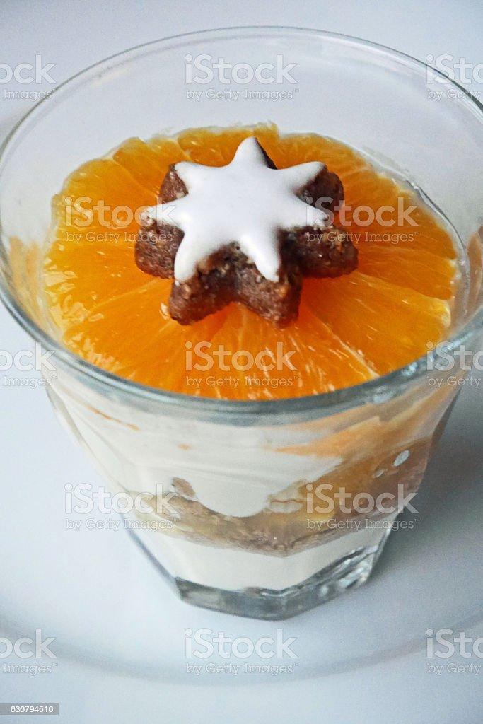 Dessert with Orange stock photo