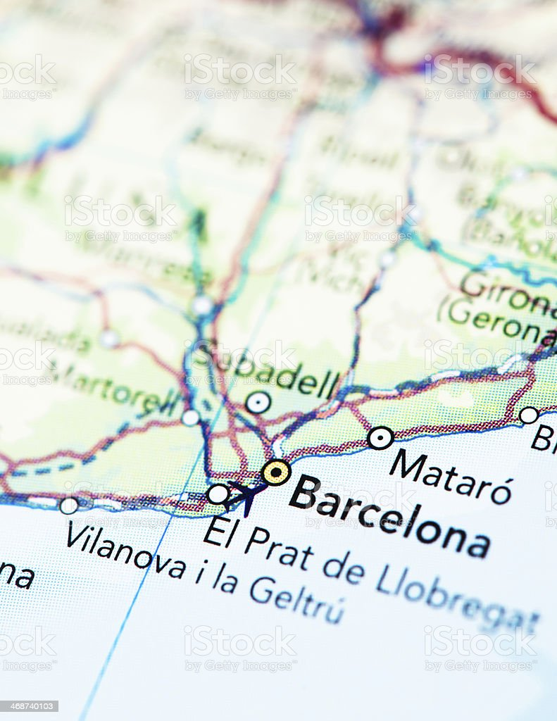 Destination Barcelona Spain royalty-free stock photo