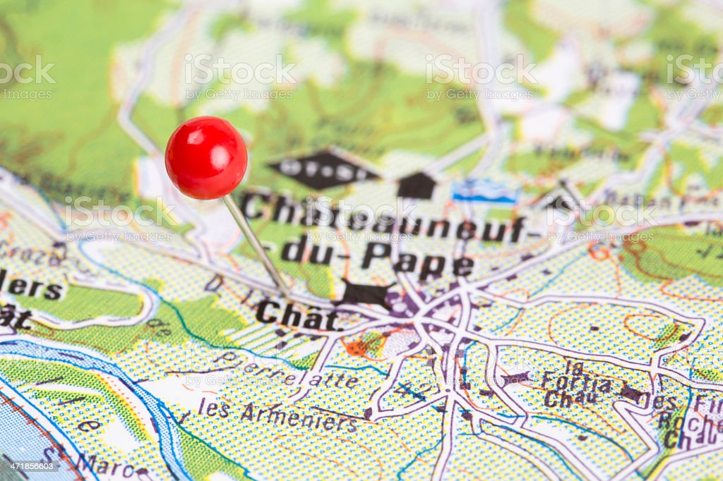Destination Chateauneuf Du Pape, France royalty-free stock photo