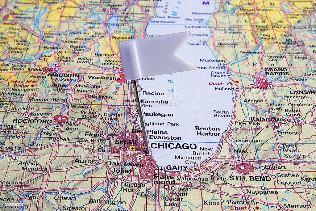 Destination: Chicago stock photo