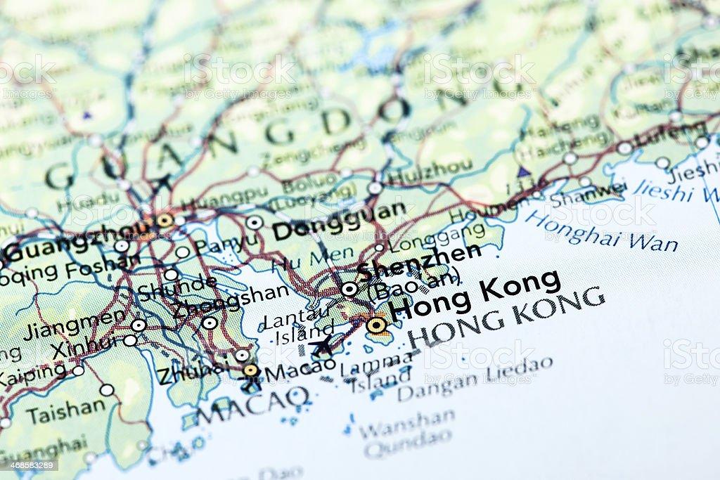 Destination Hong Kong stock photo