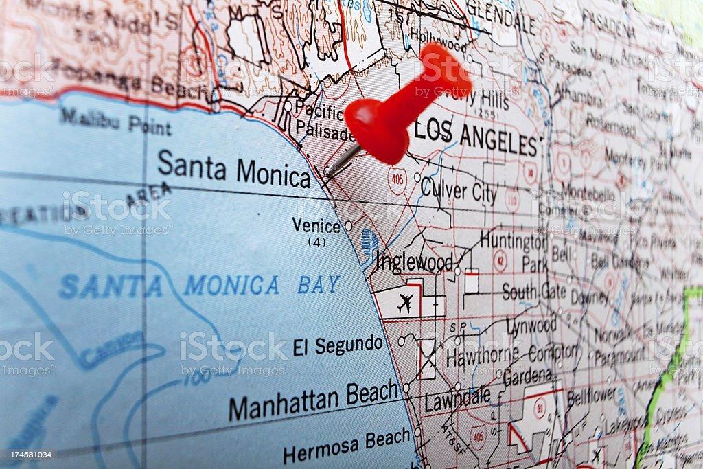 Destination Los Angeles Santa Monica royalty-free stock photo