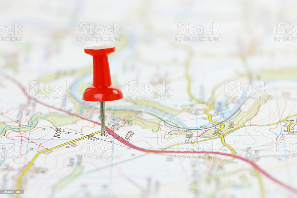 Destination on a Map stock photo