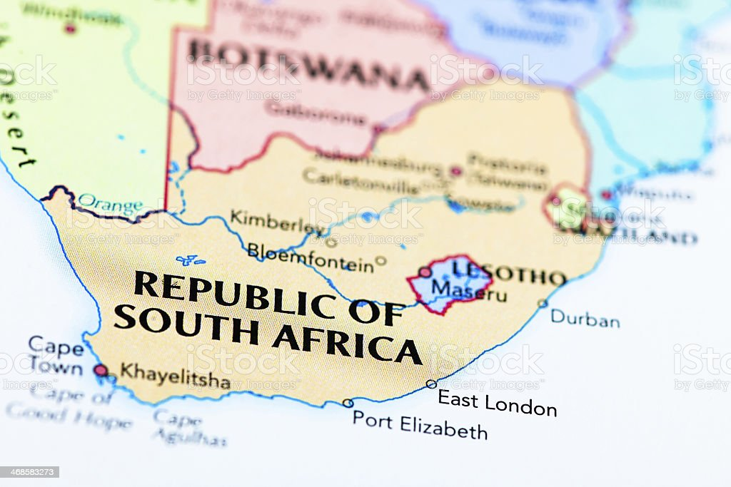 Destination Republic of South Africa stock photo