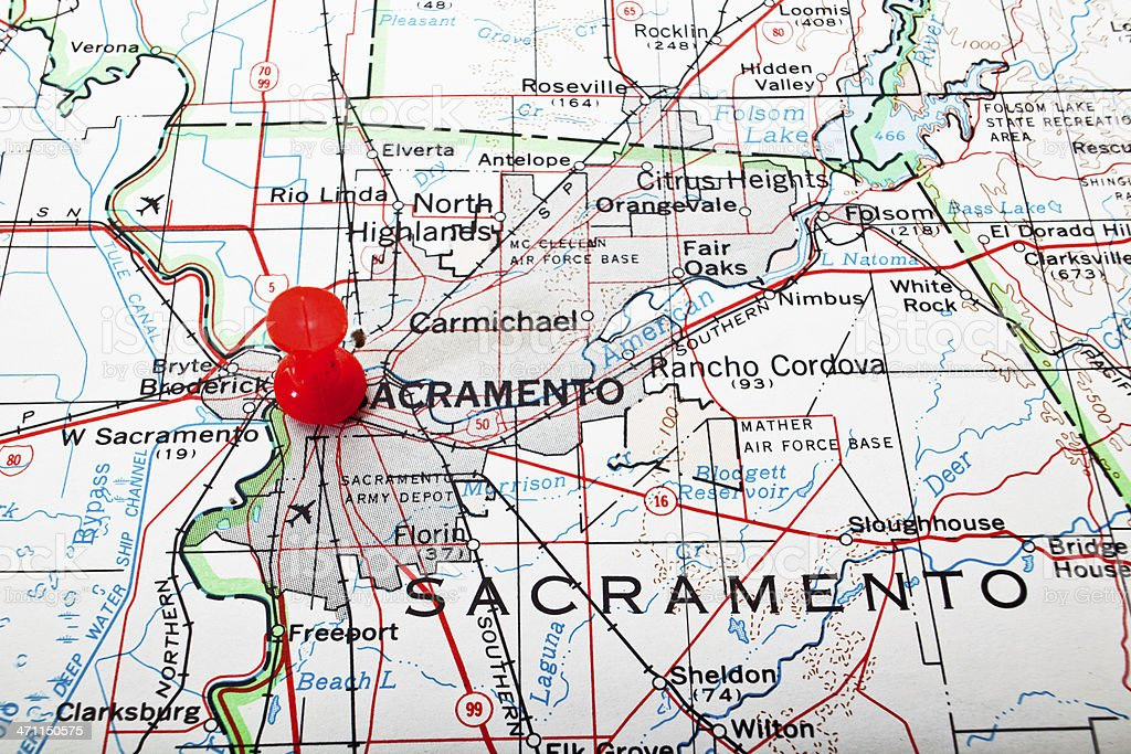 Destination Sacramento royalty-free stock photo
