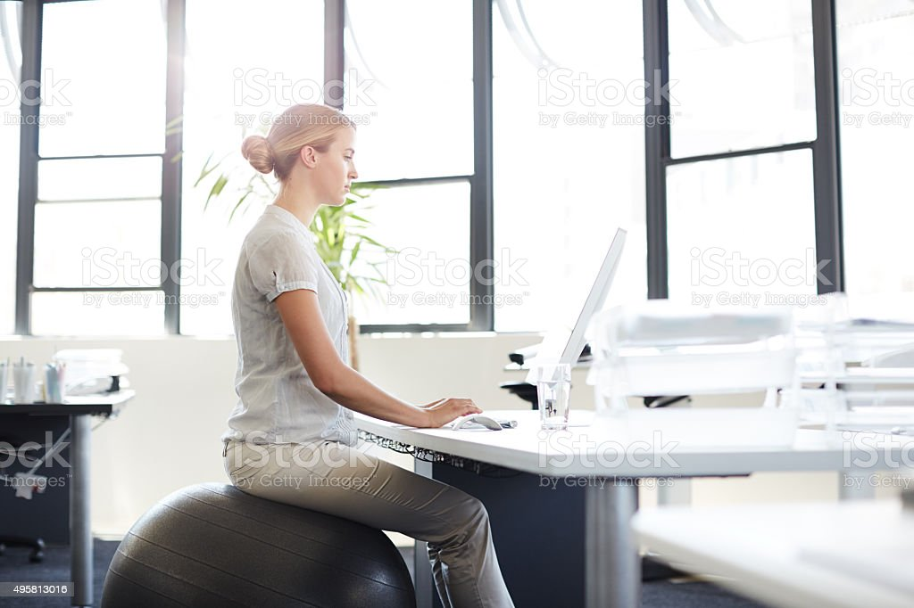 De-stress at your desk stock photo