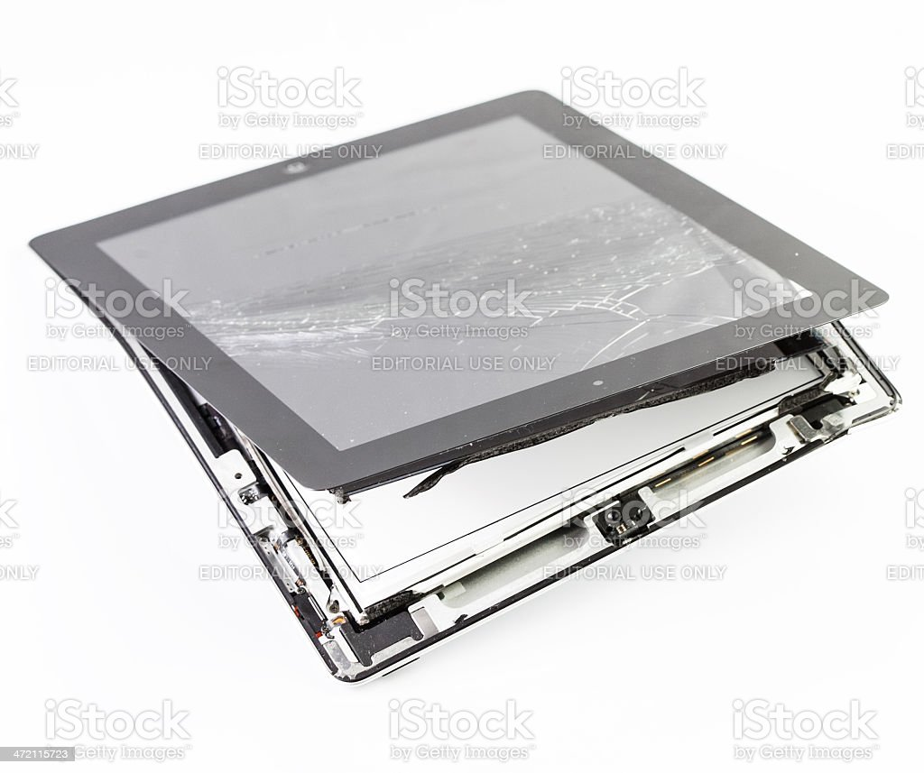 Destroied Apple Ipad royalty-free stock photo
