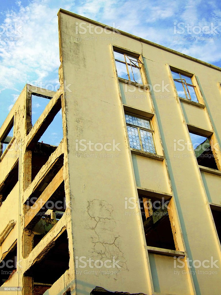 Destroyed Building royalty-free stock photo