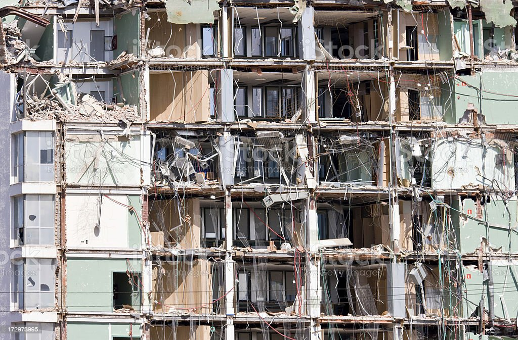 Destroyed Building. Series royalty-free stock photo