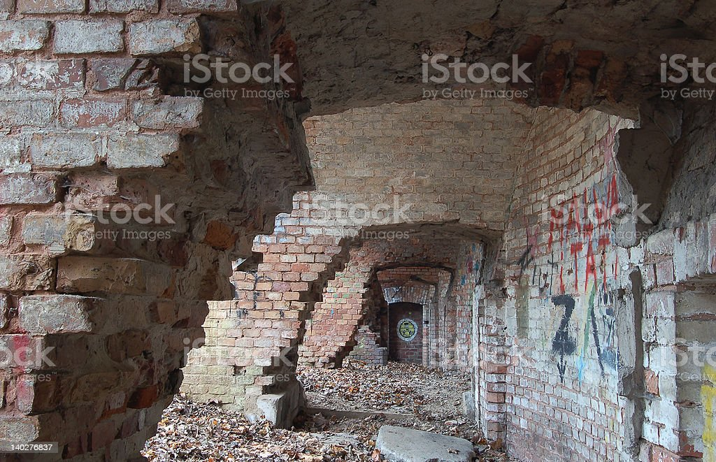 Destroyed Bunker royalty-free stock photo