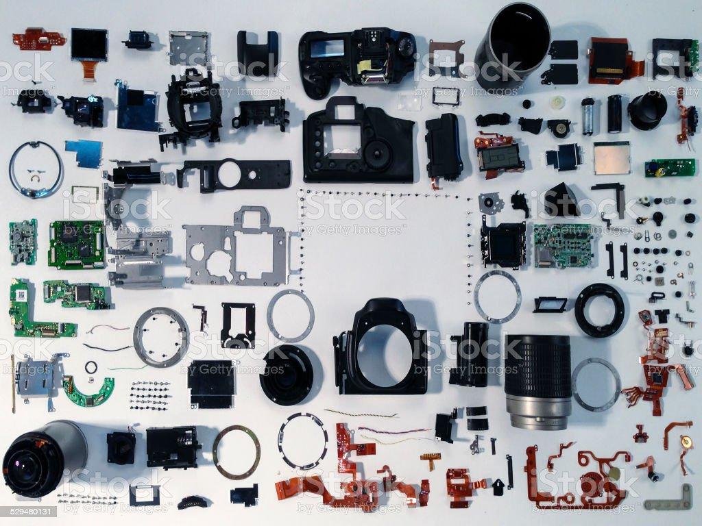 Destroyed Digital Camera stock photo