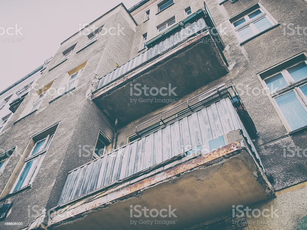 Destroyed house at berlin stock photo