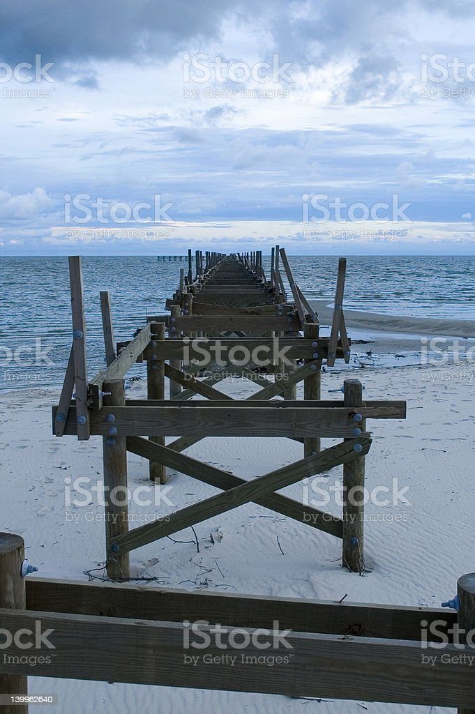Destroyed Pier stock photo