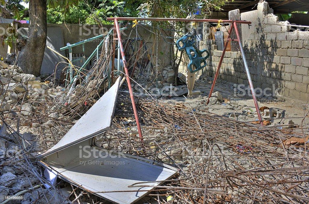 Destroyed playground royalty-free stock photo
