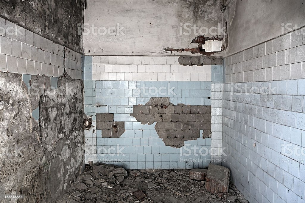 Destroyed Room stock photo