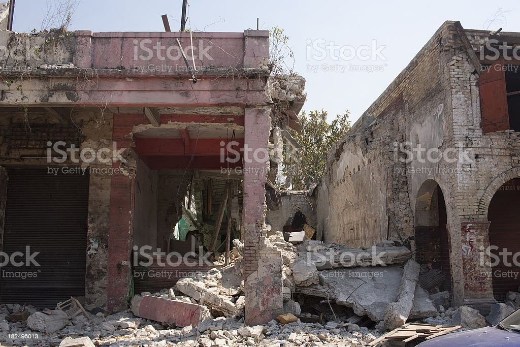 Destroyed shops royalty-free stock photo