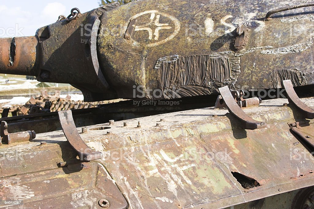 destroyed tank stock photo