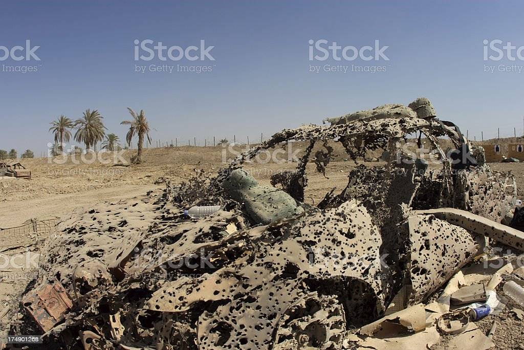 Destroyed Vehicle royalty-free stock photo
