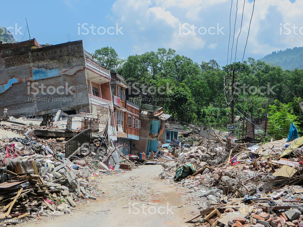 Destroyed Village stock photo