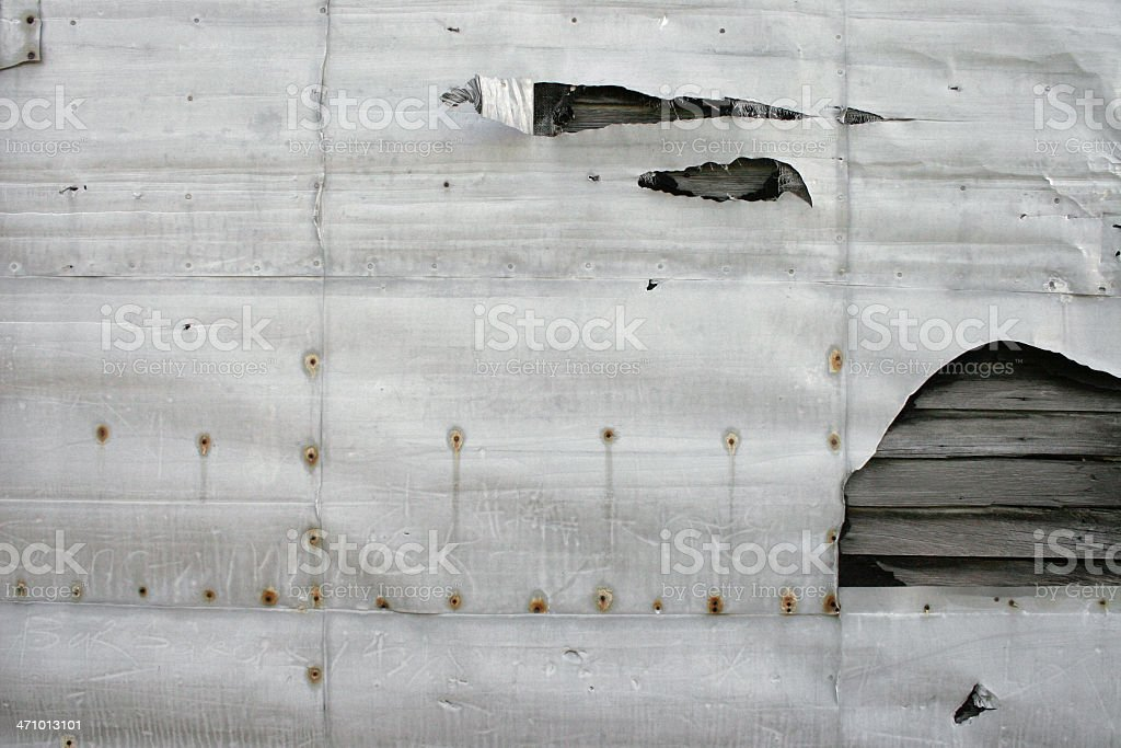 Destroyed Wall royalty-free stock photo