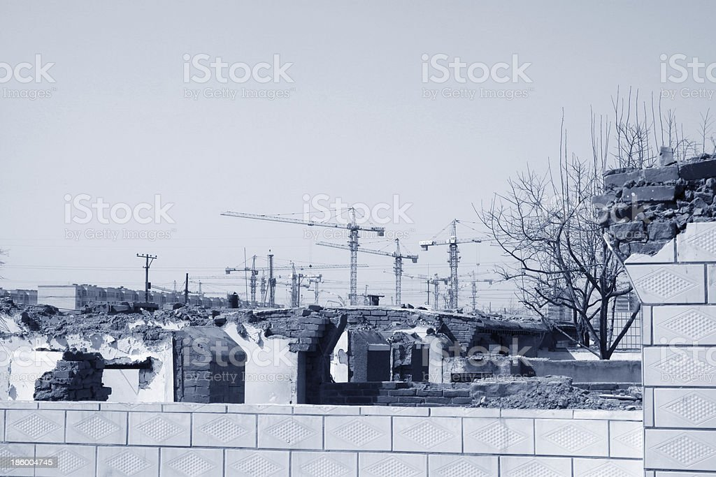 destroyed walls royalty-free stock photo