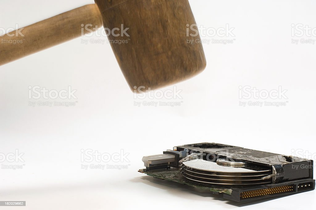 destroying data royalty-free stock photo
