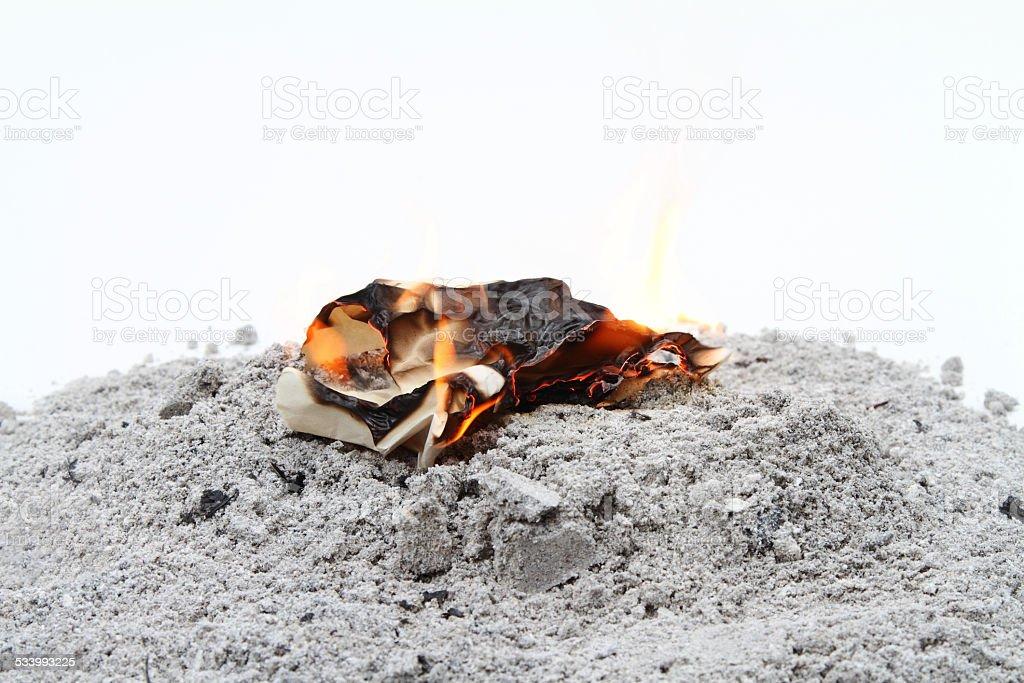 Destroying evidence stock photo