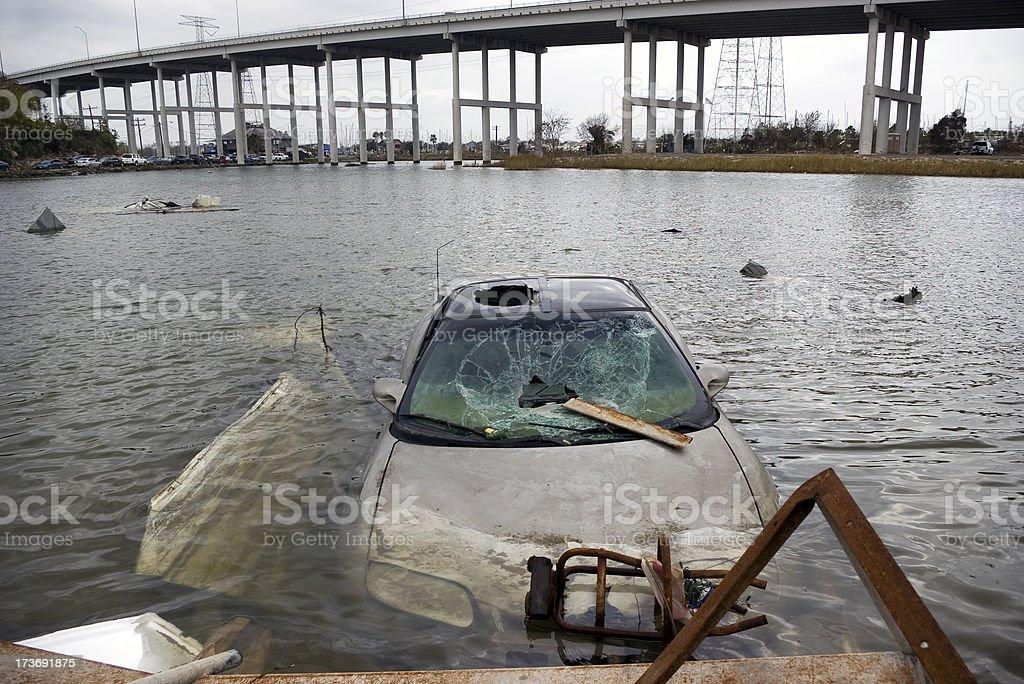 Destruction of a Hurricane. stock photo