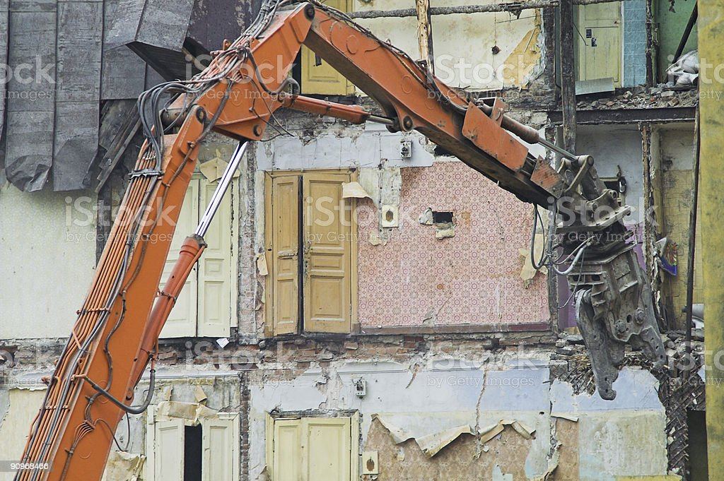 Destruction of Old Buildings royalty-free stock photo