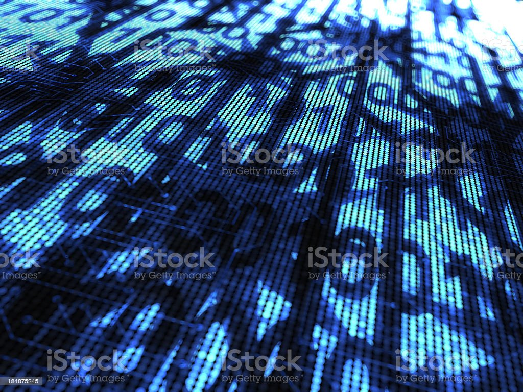 Destruction of the computer code royalty-free stock photo