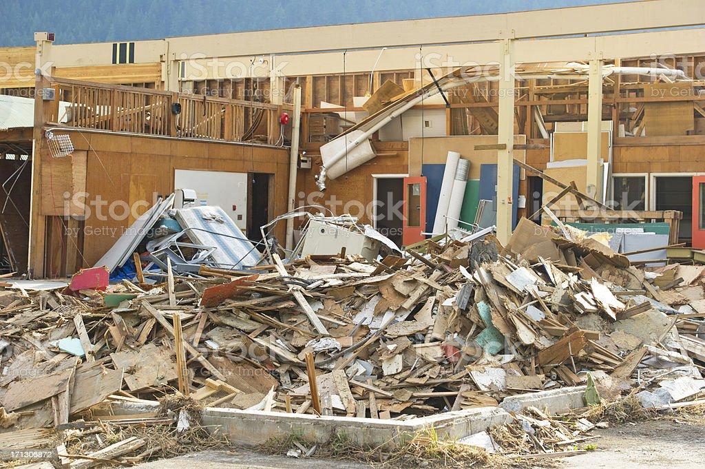 Destruction royalty-free stock photo