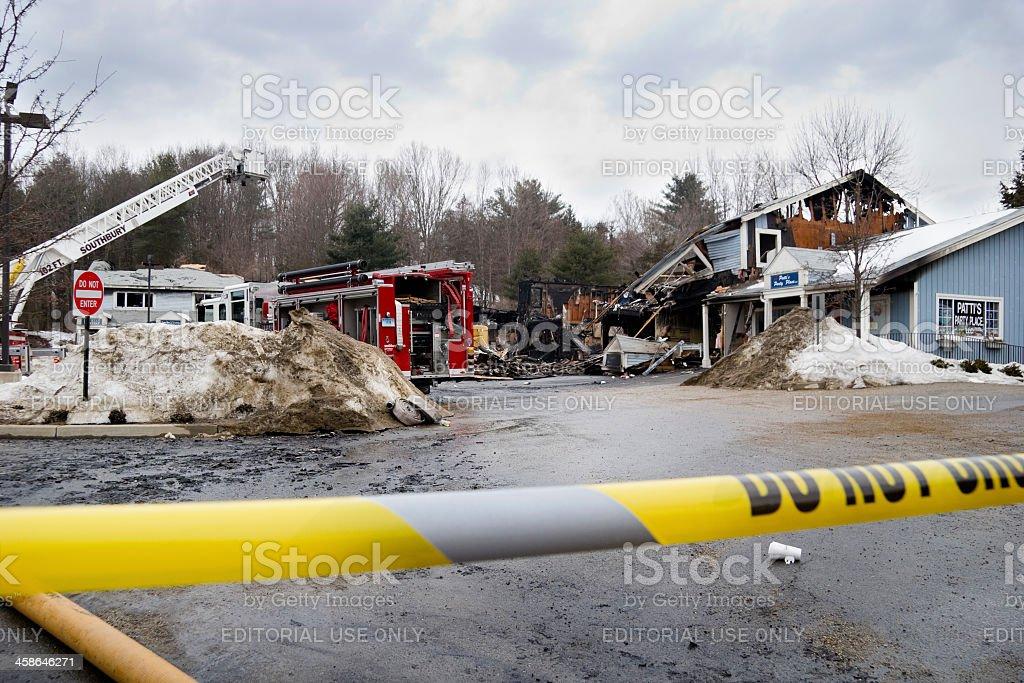Destructive Fire stock photo