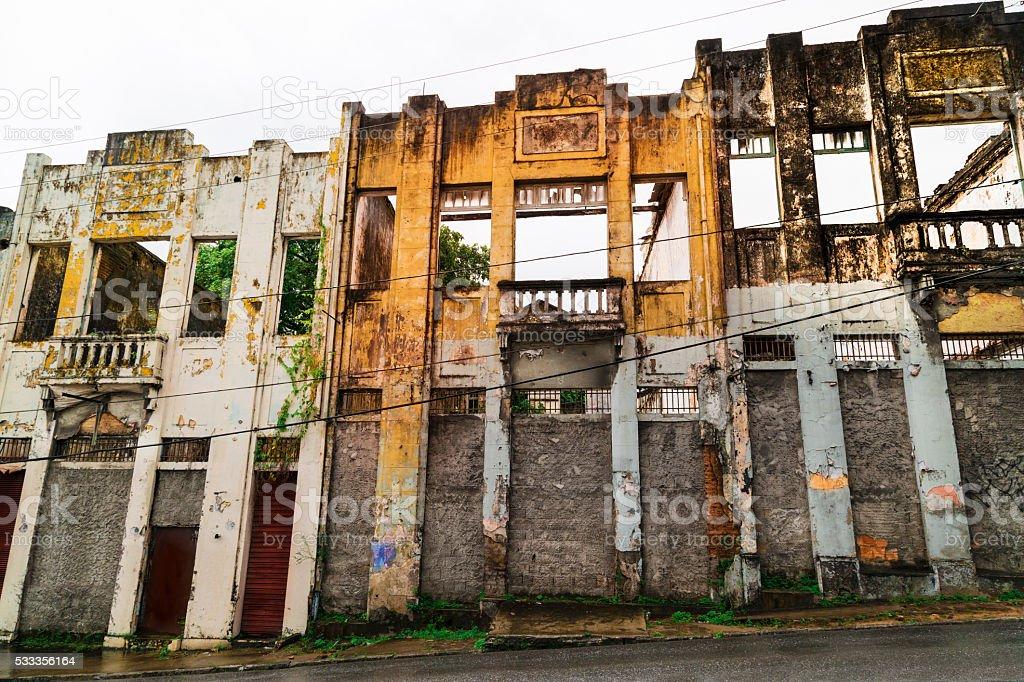 Destryoed buildings stock photo