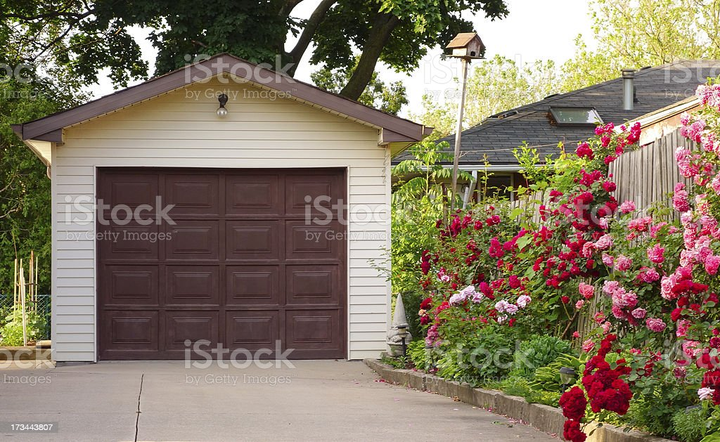 Detached Garage stock photo