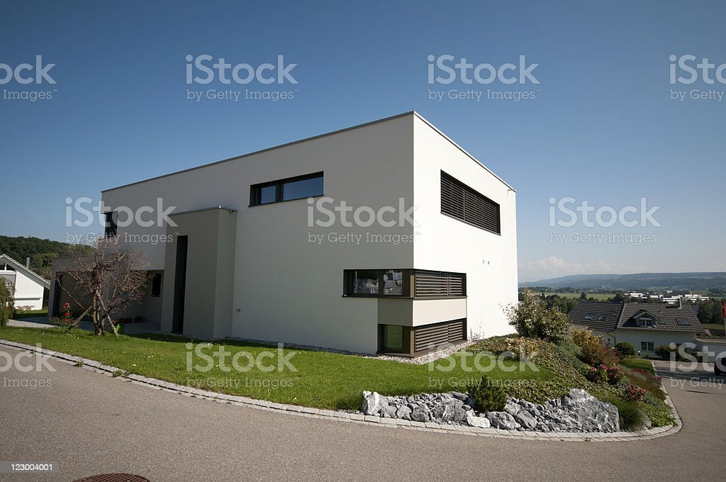 Detached house stock photo
