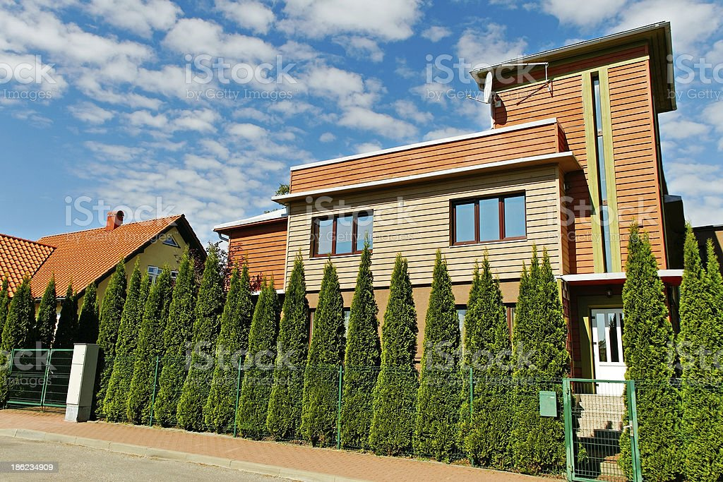 Detached house. stock photo
