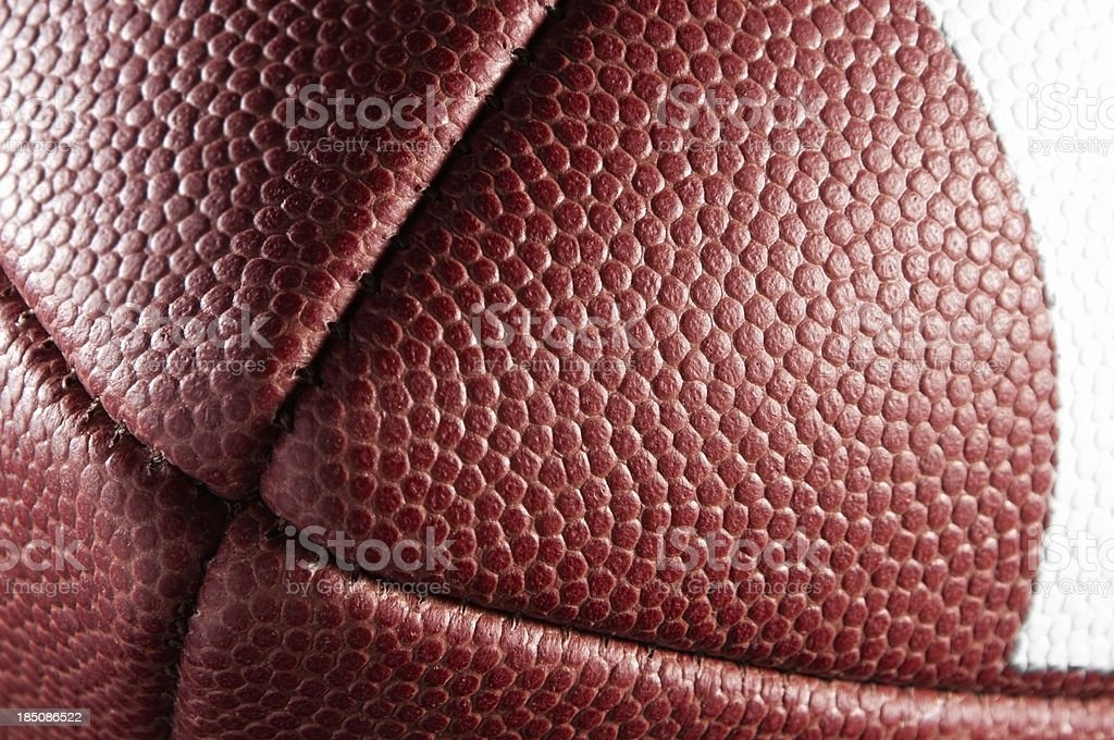 Detail and texture of American Football from end royalty-free stock photo