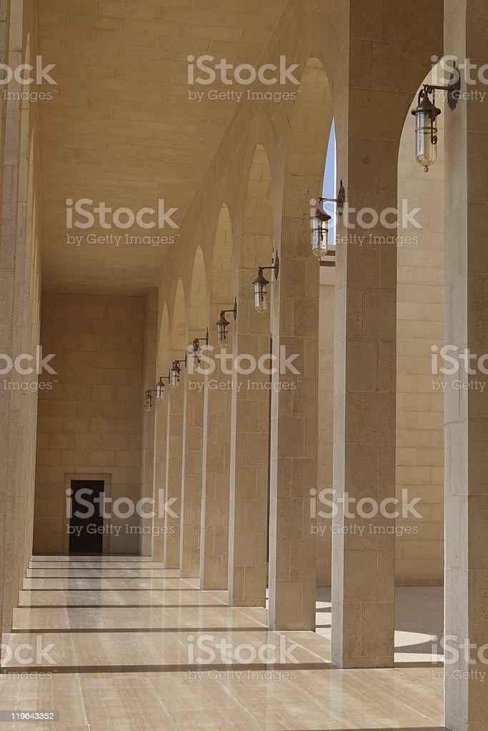 Detail at Al-Fateh Mosque, Bahrain stock photo