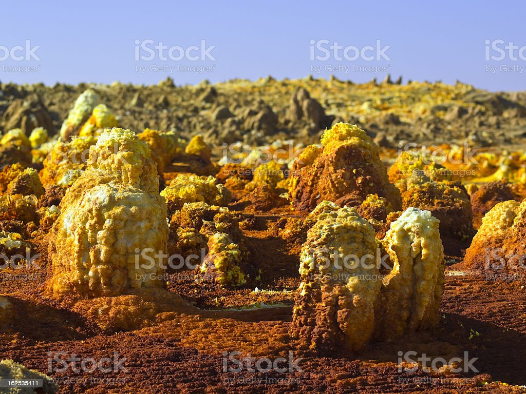 Detail at Dallol stock photo