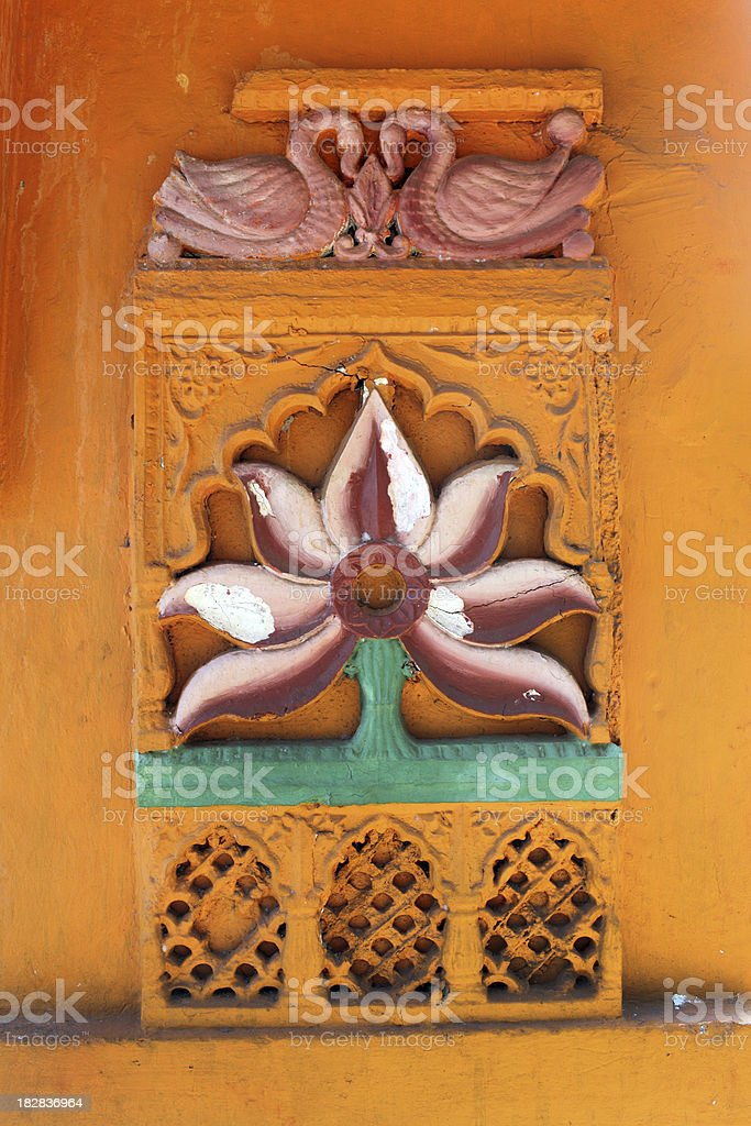 Detail at Maruti temple in Panjim, Goa stock photo