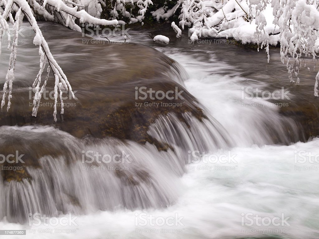 Detail at Plitcice royalty-free stock photo