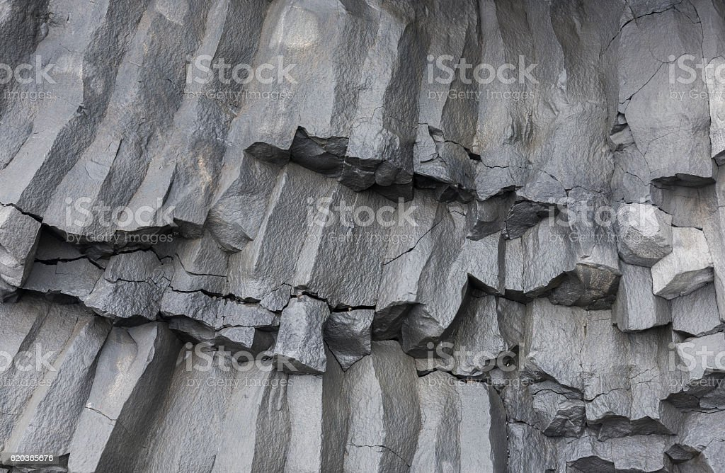 Detail Basalt Rocks Iceland stock photo