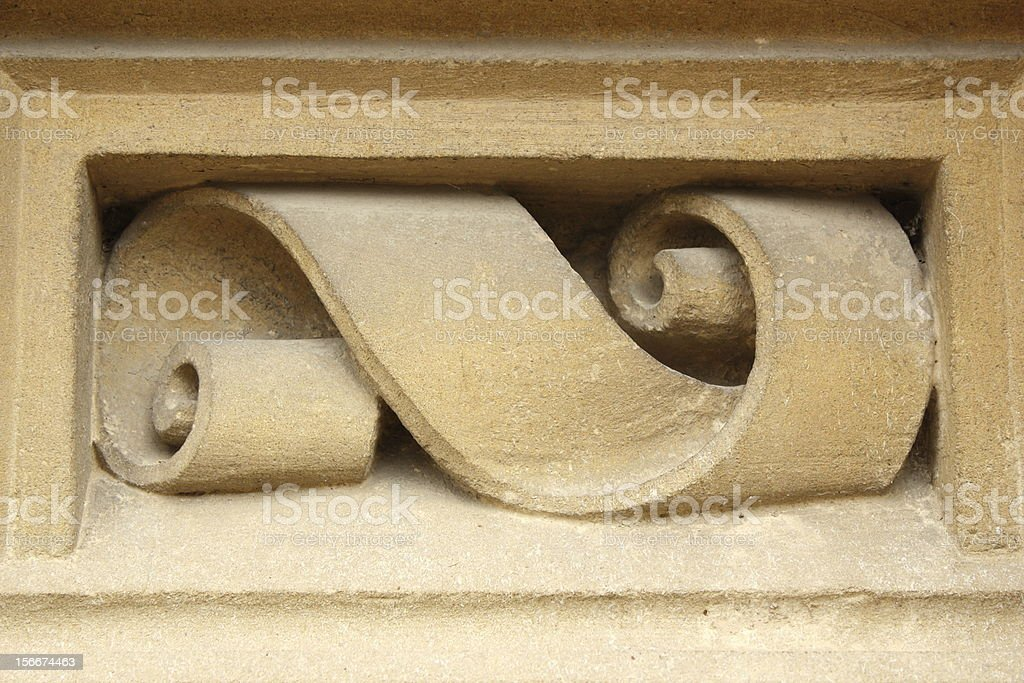 detail carved in stone stock photo