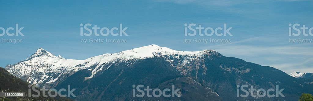 Detail cutting of the Swiss Alps stock photo