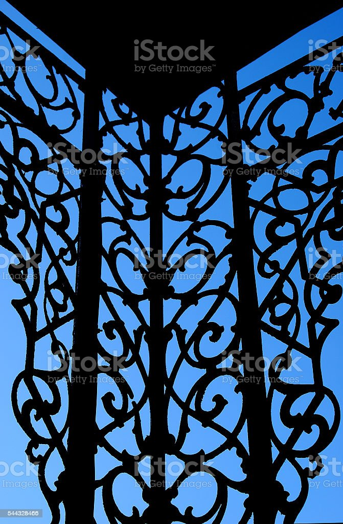 Detail, Decorative Ironwork stock photo