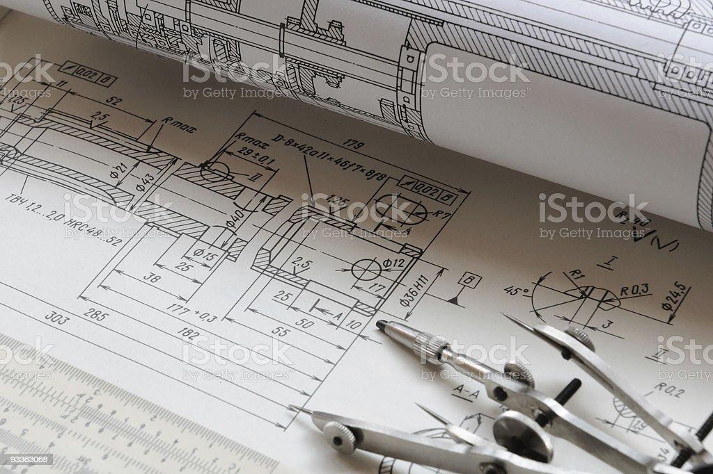 Detail drawing royalty-free stock photo